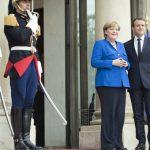 Integrarea europeană, în linie dreaptă. Emmanuel Macron o felicită pe Angela Merkel: Franța și Germania continuă cooperarea esențială pentru Europa