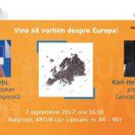 Dialog cu cetățenii, 7 septembrie. Comisarul europeanCorina Crețuși președintele Comitetului Regiunilor Karl-Heinz Lambertz vin la București pentru a discuta viitorul UE