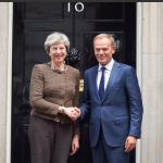 Donald Tusk, întrevedere cu premierul britanic Theresa May: Nu am înregistrat progrese suficiente în negocierile privind Brexit, dar lucrăm la asta
