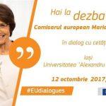 Comisarul european Marianne Thyssen, în dialog cu cetățenii la Iași privind viitorul Uniunii Europene pe 12 octombrie