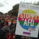 Mii de manifestanți au protestat la Berlin împotriva intrării extremei drepte în Parlament: Inima mea bate pentru diversitate. Stop AfD
