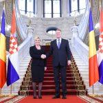 Preşedintele Croaţiei, după întrevederea cu Klaus Iohannis: Susţinem aderarea României la Spaţiul Schengen şi ridicarea MCV