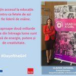 """Ziua Internațională a Fetelor. Eurodeputatul Claudia Țapardel (PSD, S&D): """"Cele aproape două miliarde de fete din întreaga lume sunt o sursă de energie, putere și de creativitate"""""""