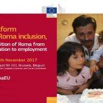"""LIVE 28 noiembrie ora 10:00. Cea de-a 11-a reuniune a Platformei europene pentru incluziunea romilor  – """"Tranziția de la educație la angajare"""""""