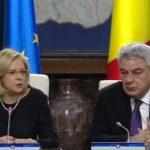 Corina Crețu, comisar european pentru Dezvoltare Regională, felicită guvernul pentru absorbția fondurilor europene, dar atrage atenția asupra stabilității politice