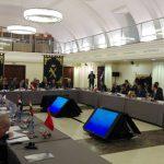 Reprezentanți din nouă state membre ale Jandarmeriei Europene la conducerea căreia se află un român, prezenți la Reuniunea Comitetului Interministerial de Nivel Înalt. România, reprezentată de comandatul Jandarmeriei Române