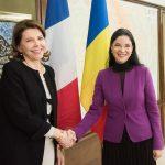 Viceprim-ministrul Ana Birchall, întâlnire cu ambasadorul Franței în România, Michele Ramis. Parteneriatul Strategic dintre cele două state, pe agenda discuțiilor
