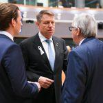 FOTO Klaus Iohannis și liderii europeni au comemorat doi ani de la atentatele de la Bruxelles, purtând o panglică albă în memoria celor 32 de victime