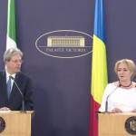 Premierul Viorica Dăncilă, întrevedere la Palatul Victoria cu omologul italian: Volumul schimburilor comerciale a atins un nivel record în 2017