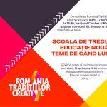 """Conferința """"Școala de trecut – educație nouă, teme de când lumea"""", marți 17 aprilie, ora 18:30"""