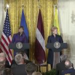 Președintele american Donald Trump, întrevedere cu președinții din Letonia, Lituania și Estonia: Nimeni nu a fost mai dur în privința Rusiei decât mine