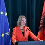 Federica Mogherini îndeamnă Albania să continue implementarea reformelor în vederea aderării la UE