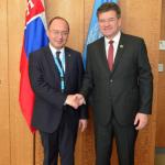 Consilierul prezidențial pentru politică externă, Bogdan Aurescu, întrevedere cu președintele Adunării Generale a ONU la New York