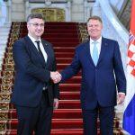 Premierul Croaţiei, primit la Cotroceni. Klaus Iohannis și Andrej Plenkovic au discutat despre agenda europeană și regională