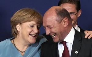 Merkel si Basescu la Consiliul European