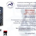 Lansarea cărții ISTORIA PRIN OCHII DIPLOMATULUI, 17 decembrie