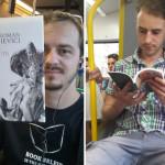 Transport gratuit dacă citești o carte. Inițiativa unui clujean, apreciată de presa străină