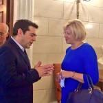 Comisarul european Corina Crețu, întâlnire cu prim-ministrul grec Alexis Tsipras