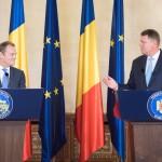"""VIDEO Klaus Iohannis către Donald Tusk la București: """"Nu trebuie să fie puse în discuție drepturile cetățenilor români care lucrează în Marea Britanie"""". Tusk: """"Nu vom face compromisuri"""""""