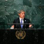"""Dacian Cioloș a criticat Rusia la tribuna ONU: """"Suntem profund îngrijorați de utilizarea de tactici de luptă hibride și de anexarea ilegală a teritoriilor"""""""