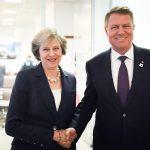 Președintele Klaus Iohannis va avea o întâlnire cu premierul britanic Theresa May, pe 14 noiembrie, la Londra (surse)