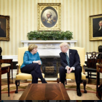 Donald Trump, după întâlnirea cu Angela Merkel: Îi mulțumesc cancelarului german pentru intenția de a acorda 2% din PIB pentru apărare