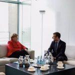 Angela Merkel l-a primit la Berlin pe candidatul favorit la alegerile prezidențiale din Franța