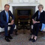 Întâlnire între Donald Tusk și Theresa May. Premierul britanic, poziție fermă privind suveranitatea Gibraltarului: Nu reprezintă subiectul negocierilor referitoare la Brexit