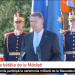 """Klaus Iohannis, apel de la Mărăști la unirea eforturilor românilor: """"Să marcăm Centenarul Marii Uniri printr-un angajament concret, nu festivist ori declarativ, pentru o Românie unită și prosperă, puternică și educată!"""""""