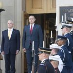 A doua reuniune biletarală în mai puțin de două luni: Ministrul Apărării, Mihai Fifor, se întâlnește la Bruxelles cu omologul american, James Mattis