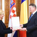 Kolinda Grabar-Kitarović, președintele Croației, decorată de președintele Klaus Iohannis
