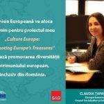 """Proiectul""""Culture Europe: Promoting Europe's Treasures"""", depus de eurodeputatul Claudia Țapardel (PSD, S&D), va primi finanțare de 1.1 milioane de euro pentru a promova diversitatea patrimoniului la nivel european"""