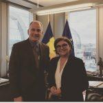 Lupta împotriva schimbărilor climatice și ridicarea vizelor pentru cetățenii români, discutate de eurodeputatul Adina Vălean (PNL, PPE) cu ambasadorul Canadei la UE