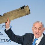 IMAGINEA ZILEI în lume vine de la München: O bucată dintr-o dronă iraniană prezentată de Benjamin Netanyahu, un nou motiv de tensiune între Israel și Iran. Reacția lui Mohammad Javad Zarif