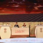Președintele Franței Emmanuel Macron și premierul indian Narendra Modi au inaugurat o centrală electrică solară în nordul Indiei, construită cu sprijin francez