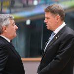 CORESPONDENȚĂ   Președintele Parlamentului European, înaintea discursului lui Klaus Iohannis privind viitorul Europei: Rolul României, esențial pentru o Uniune Europeană bazată pe libertate și stat de drept