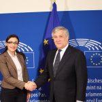 Eurodeputatul Gabriela Zoană (PSD, S&D), întrevedere cu președintele PE, Antonio Tajani, privind bugetul Politicii Agricole Comune