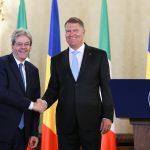 Premierul Italiei, la București: Suntem siguri că președinția României la Consiliul UE va contribui la definirea pozitivă a cadrului financiar multianual
