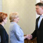 """Președintele Klaus Iohannis o invită pe Viorica Dăncilă marţi la consultări pe """"probleme urgente și de importanță deosebită"""" de politică externă"""