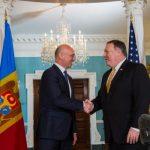 Premierul Republicii Moldova, Pavel Filip, întâlnire cu secretarul de Stat a SUA, Mike Pompeo. Șeful diplomației americane a solicitat reforme pentru a proteja statul de ingerințele externe