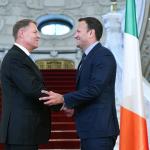 Președintele României, mulțumit de schimburile economice româno-irlandeze. Șeful statului, declarații comune alături de premierul Irlandei: Probabilitatea unui hard Brexit este foarte mică