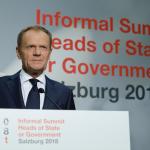 Brexit: Președintele Consiliului European reacționează la discursul premierului Theresa May și critică poziția dură adoptată de Marea Britanie la summitul UE de la Salzburg