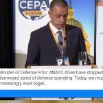 Ministrul Mihai Fifor la Forumul CEPA de la Washington: În regiunea Mării Negre și în cadrul NATO, România dă dovadă de maturitate strategică și este un aliat solid