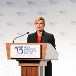 Președintele Croaţiei Kolinda Grabar-Kitarović: Inițiativa celor Trei Mări va permite formarea unor legături strânse în regiune; ţările din estul Europei vor fi ajutate să reducă diferenţele faţă de statele din vest