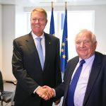 Klaus Iohannis s-a întâlnit cu președintele PPE, Joseph Daul, la sediul Reprezentanței Permanente a României pe lângă UE