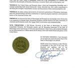 Guvernatorul statului american Mississippi a emis o proclamaţie oficială de felicitare a României, cu ocazia sărbătoririi Centenarului Marii Uniri de la 1918