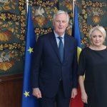 Viorica Dăncilă și Michel Barnier au discutat despre cooperarea dintre președinția României la Consiliul UE și echipa de negociere a Comisiei Europene privind Brexit