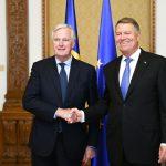 Președintele Klaus Iohannis, la întâlnirea cu Michel Barnier: România susține un acord cu Marea Britanie în domeniul securității externe după Brexit