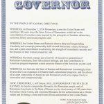 Centenarul Marii Uniri: Kansas, al 17-lea stat din SUA care aduce un omagiu României cu ocazia aniversării a 100 de ani de la Marea Unire de la 1918