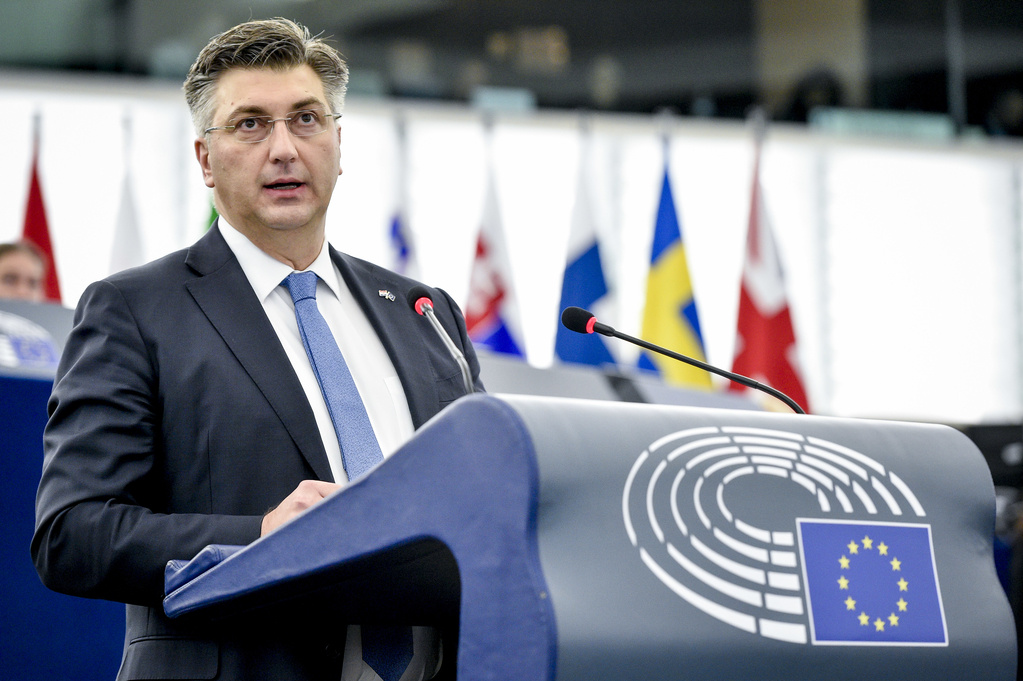 Plenary session - Debate with the Prime Minister of Croatia on the Future of Europe - Statement by Andrej PLENKOVIC, Prime Minister of Croatia